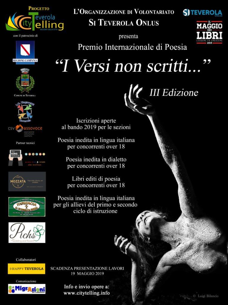 """Premio Internazionale di Poesia """"I versi non scritti"""" 2019"""